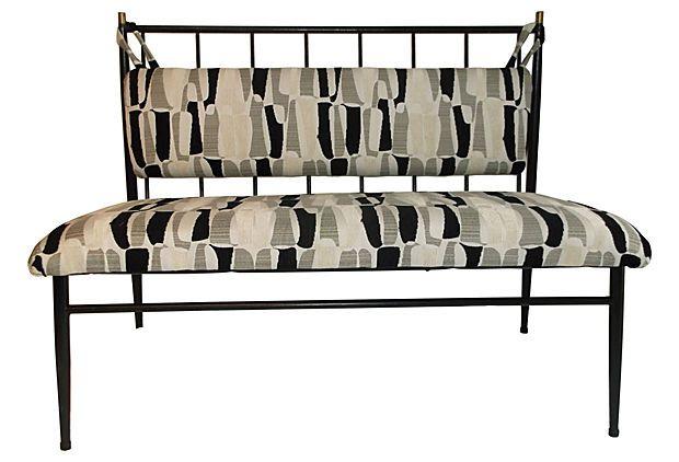 Midcentury Iron Bench on OneKingsLane.com