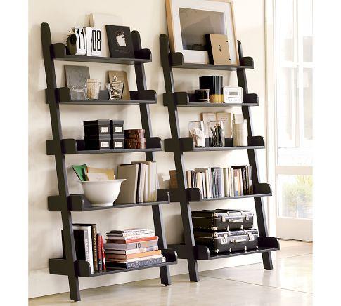 Studio Wall Shelf - Pottery Barn - LOVE LOVE LOVEBookshelves, Living Rooms, Decor Ideas, Bookcas, Book Shelves, Wall Shelves, House, Ladders Shelves, Pottery Barns