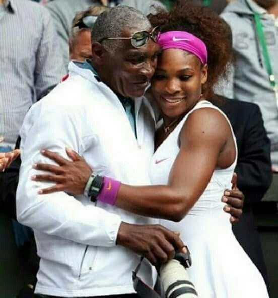 ... Serena Williams & Her Dad?! #hatsofftoyouSir