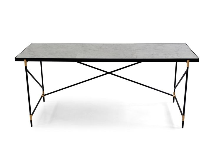 The HANDVÄRK Desk consists of a honed white marble top that has been quarried into 3 larger fragments and mounted onto a slender, black frame. Marble is a natural product with unique patterns and expressions - that also makes every single table unique.