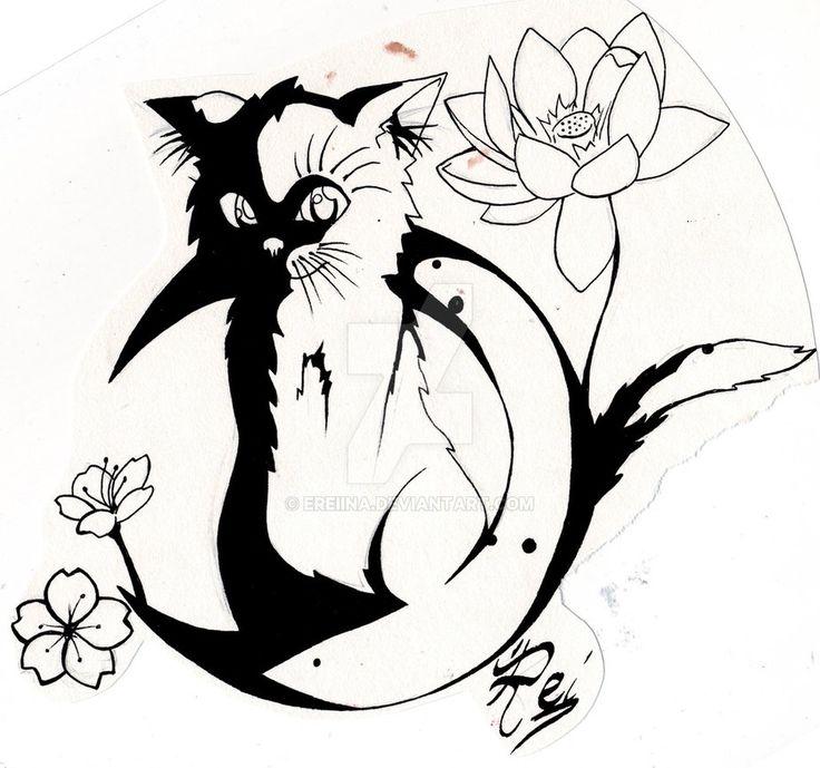 The kitty on flower moon by eREIina.deviantart.com on @DeviantArt