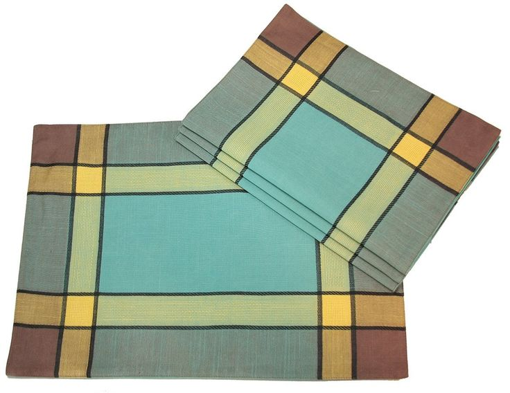 Xia Home Fashions 4-Pack Riviera Collection Contemporary Placemat, 14-Inch by 20-Inch, Teal *** Details can be found by clicking on the image.