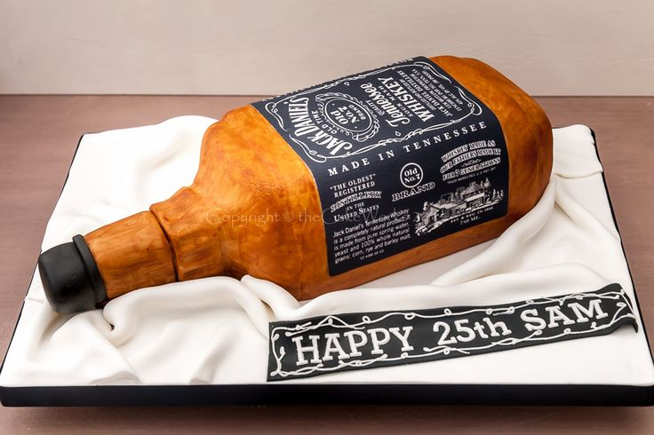retro birthday cake boy with gun | Cakes for men / Jack Daniels for a 25th birthday cake surprise