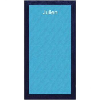 Découvrez cette Serviette de plage personnalisée Fashionata - Turquoise  sur poupepoupi.com #serviettedetoilette #sortiedebain #serviettepersonnalisée