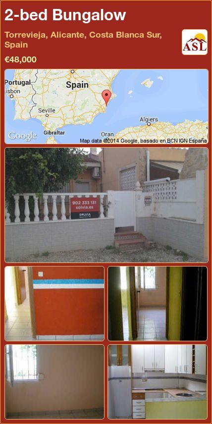 2-bed Bungalow in Torrevieja, Alicante, Costa Blanca Sur, Spain ►€48,000 #PropertyForSaleInSpain