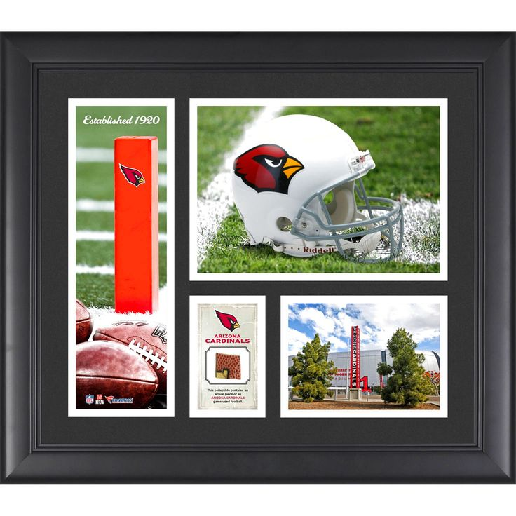 """Arizona Cardinals Fanatics Authentic Framed 15"""" x 17"""" Team Logo Collage with Piece of Game-Used Football - $63.99"""