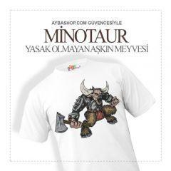 Minotaur Karakterli T Shirt Baskı
