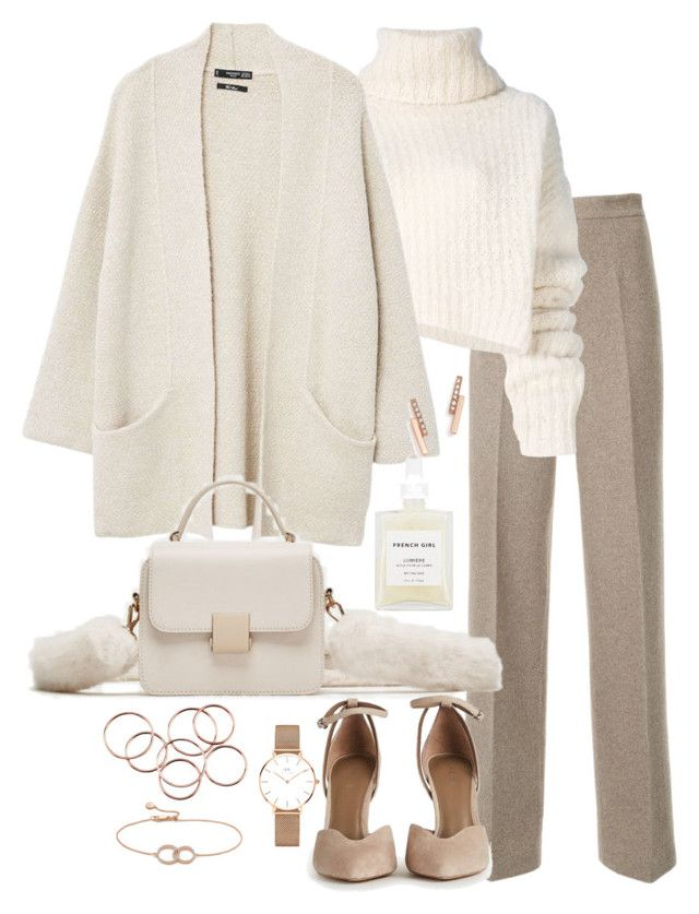"""Untitled #5278"" by theeuropeancloset on Polyvore featuring Ermanno Scervino, Ann Demeulemeester, MANGO, Daniel Wellington, Monica Vinader, French Girl and Zoë Chicco"