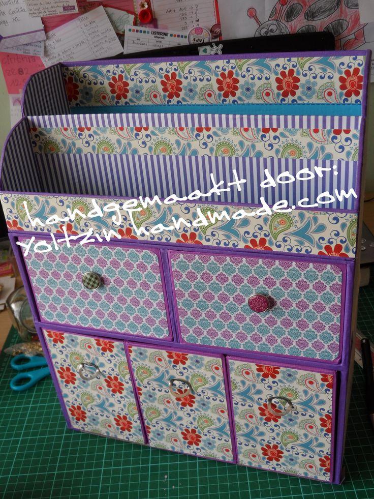 Cardboard desk organizer by - Organizador escritorio ...