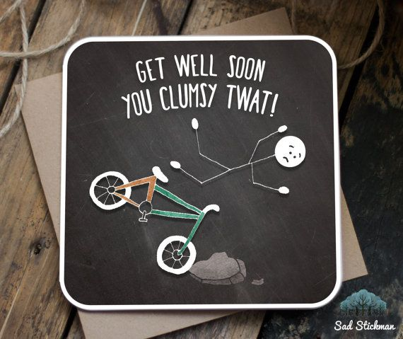 Funny Get Well Soon Card / Get Well Soon / Funny sympathy card / Sarcastic Get…