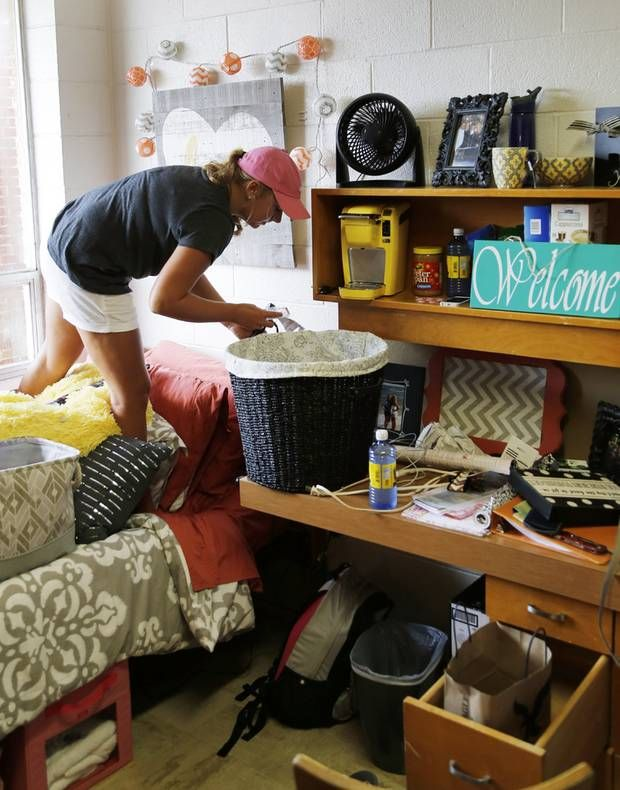 Student Dorm Room: University Of Central Oklahoma Students Move On Campus