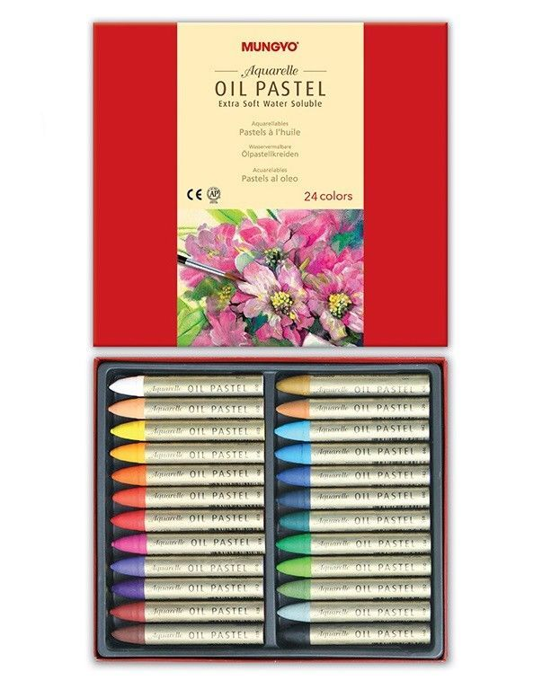 Details About Mungyo Extra Soft Water Soluble Oil Pastels Set Of