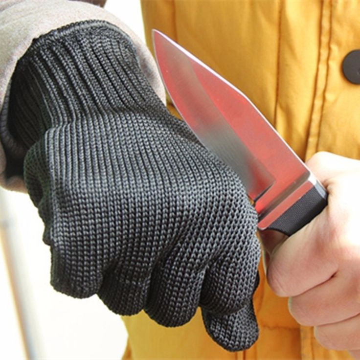 Anti Stainless Steel Wire Safety Work Anti-Slash Cut Static Resistance Protective Gloves Polyester Fistfight Riot Gear