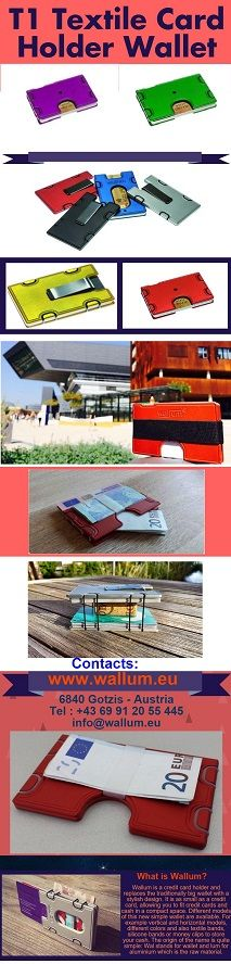 T1 Textile Card Holder Wallet in different colors available. More: http://www.wallum.eu