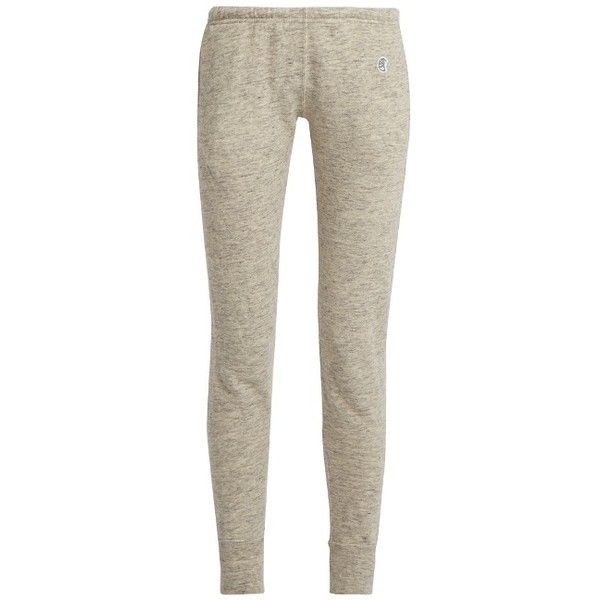 Todd Snyder + Champion Cotton-jersey track pants ($93) ❤ liked on Polyvore featuring activewear, activewear pants, light grey, cotton jersey, champion sportswear, champion activewear and track pants