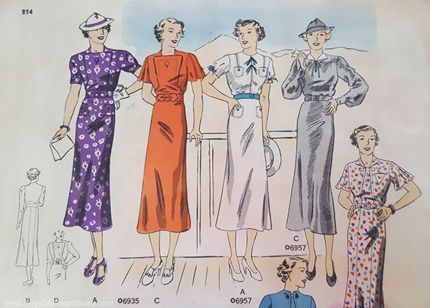 Butterick Pattern Catalog, 1937 - A Few Faves ~ Royal Vintage Blog