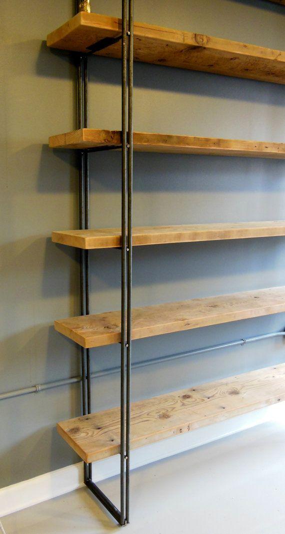 Reclaimed Wood Bookcase Shelving Unit Industrial by DendroCo, $1800.00 - Best 25+ Reclaimed Wood Bookcase Ideas On Pinterest Bookshelf