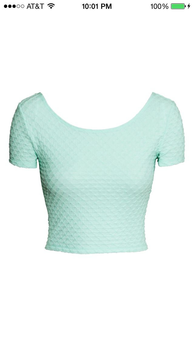 Tight turquoise crop top from h m h m pinterest tops for Tight t shirt crop top