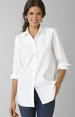 Can't resist a crisp, white shirt!  I need a longer one like this!