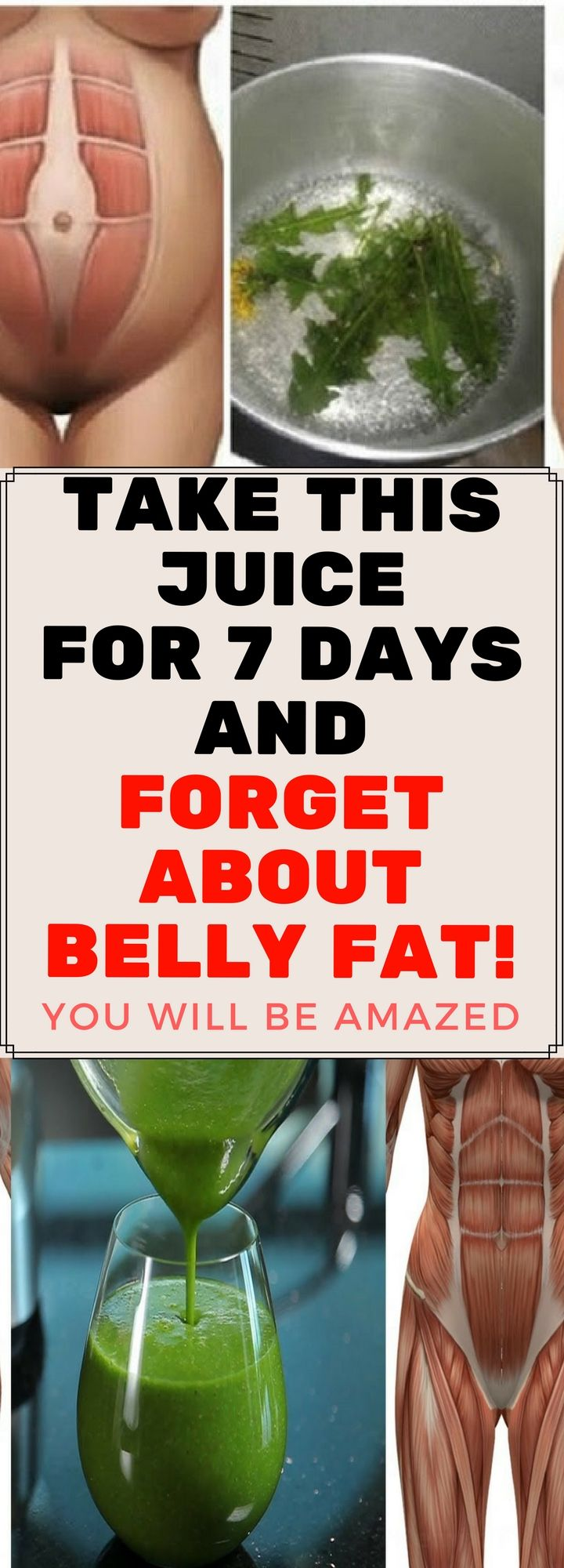Take This Juice For 7 Days and Forget About Belly Fat..!!
