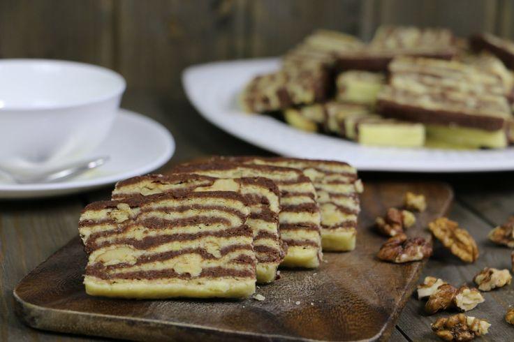 """Замечательное печенье """"Зебра"""" с грецкими орехами. Попробуйте приготовить!"""