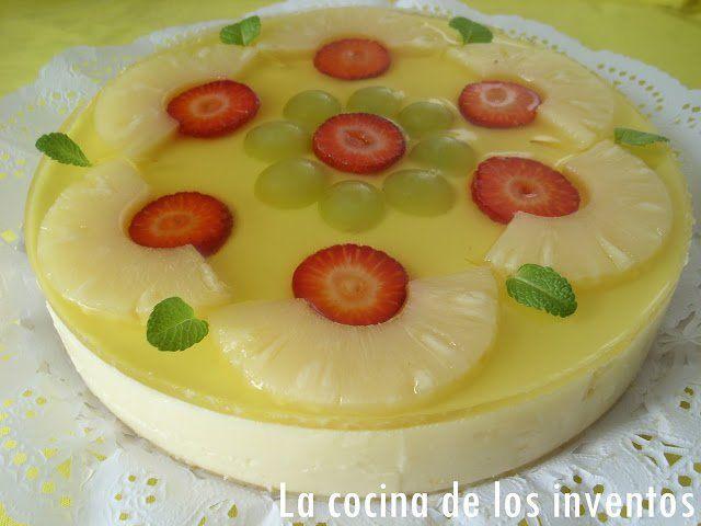 Comparte Recetas - Tarta fría de Piña
