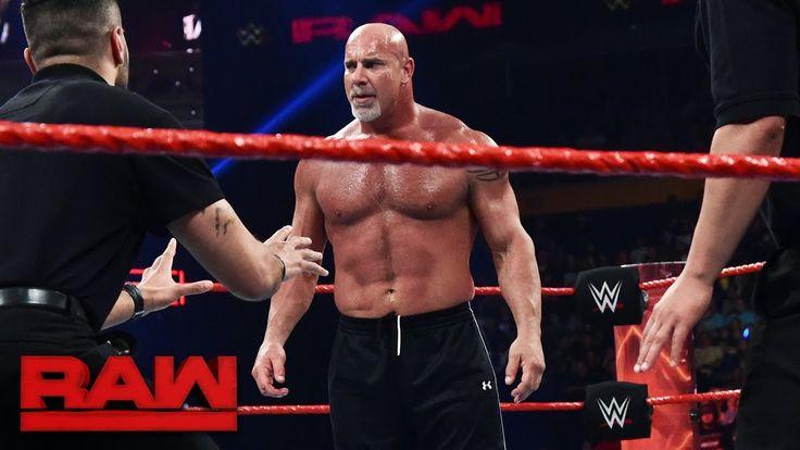 Goldberg and Brock Lesnar meet face-to-face before Survivor Series: Raw, Nov. 14, 2016 - http://newsaxxess.com/goldberg-and-brock-lesnar-meet-face-to-face-before-survivor-series-raw-nov-14-2016/