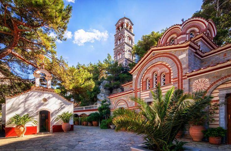 Agios Georgios Selinari Monastery near Malia, Crete, Greece