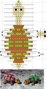 схема плетения черепахи