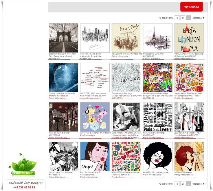Wybierz grafikę - a my zaprojektujemy ją tak aby idealnie pasowała do Twojego wnętrza. Tysiące grafik do wyboru!