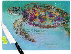 Sea Turtle Design Glass Cutting Board or Serving Board - North Breeze