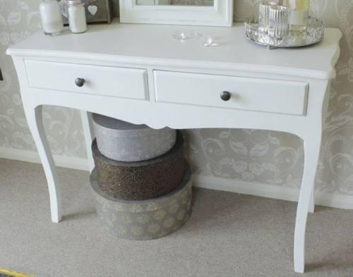 Fraser White Large Dressing Table - Melody Maison®