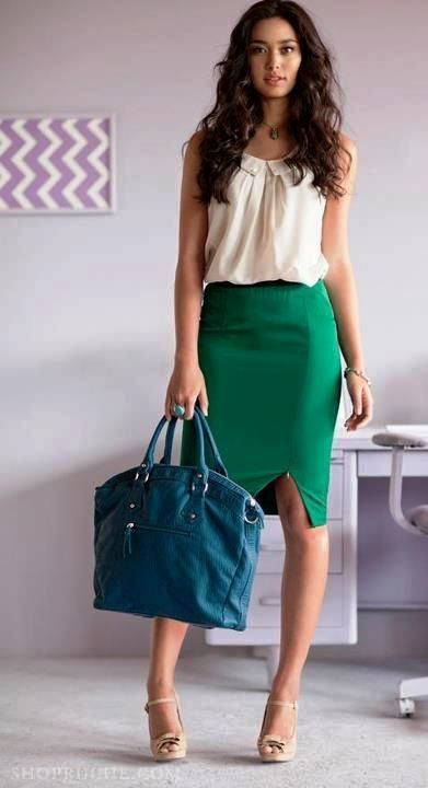 Like the outfit, but needs a different handbag. Great colour palette and effortless hair for a busy morning on a business trip.