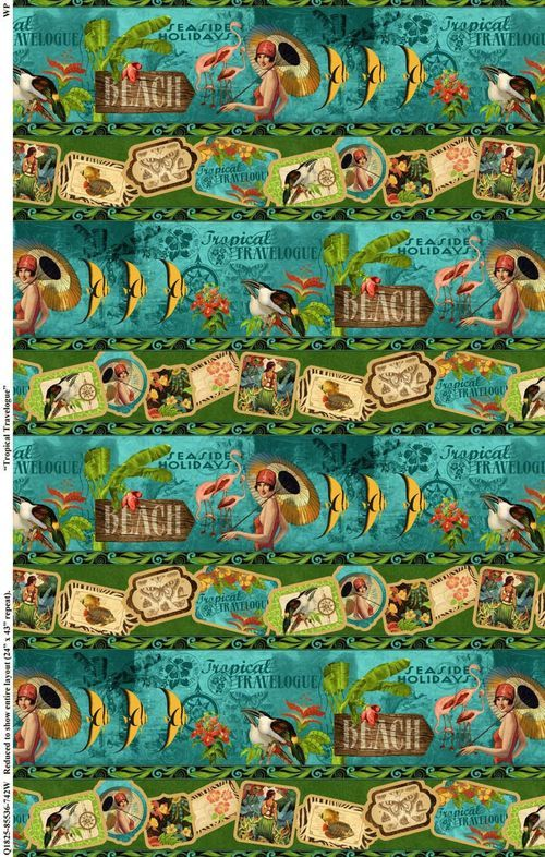 More beautiful Tropical Travelogue fabric from Wilmington Prints! #graphic45 #fabric