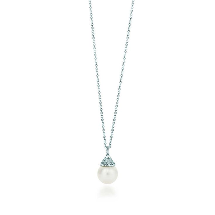 Ziegfeld Collection pearl pendant in sterling silver. | Tiffany & Co. Wish this was gold.   SO BEAUTIFUL. Love love love love.