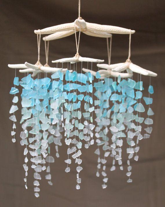 Meer Glas & Starfish Mobile - kolossale Ombre