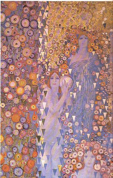 Decorative Panel for the XI Venice Biennale Palazzo Grassi Venice by Galileo Chini, 1914.