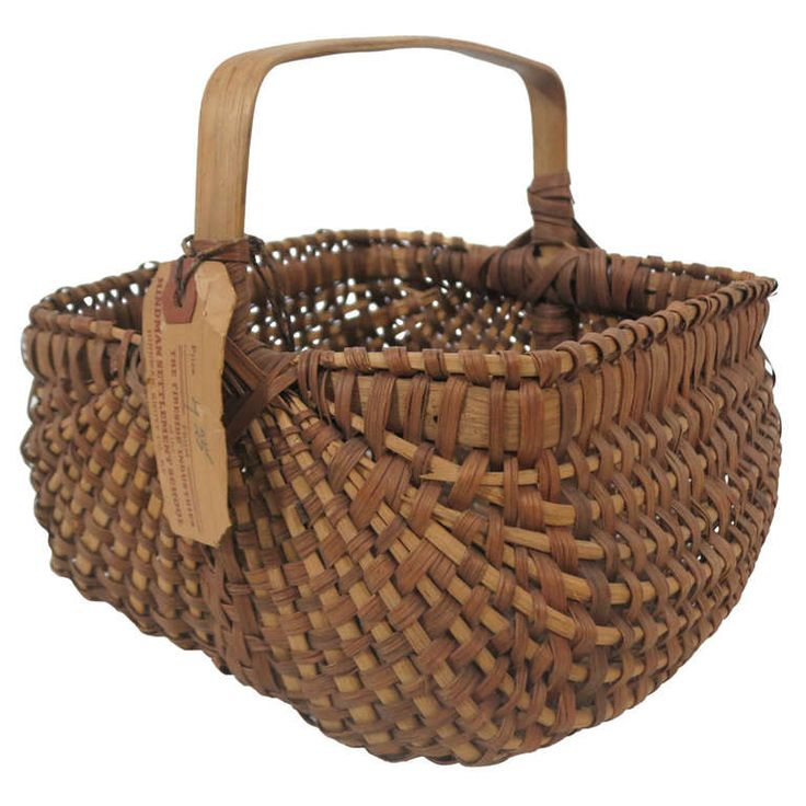 Hindman Settlement School Kentucky Basket | From a unique collection of antique and modern baskets at http://www.1stdibs.com/furniture/folk-art/baskets/