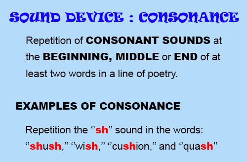 Consonance INTERMEDIATE (grade 12): Use this image to help readers understand and identify consonance in Let Evening Come.