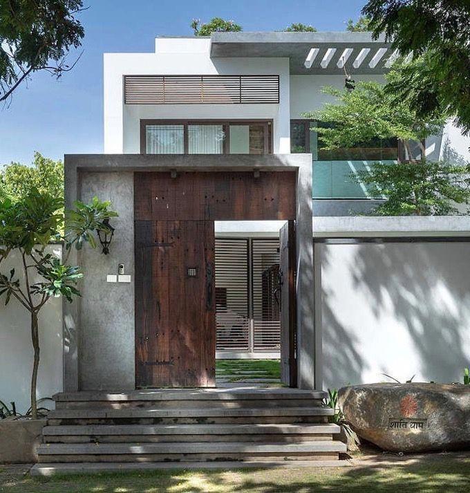 Villa Tropicale Loft Inde Entree D Une Grande Maison Indienne