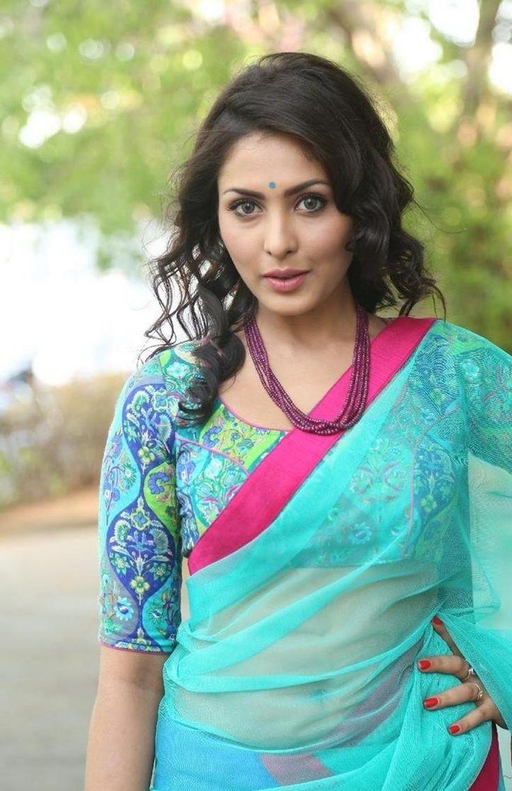 Transparent Saree: Cool Madhu Shalini Transparent Half Saree Hot Stills