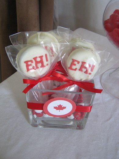 Oréos pour la Fête du Canada / Canada Day Oreo Pops