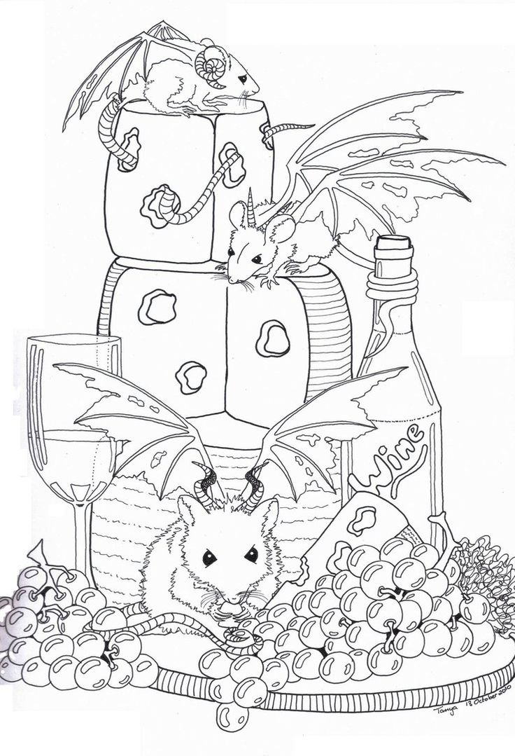 demon dragon coloring pages - photo#39
