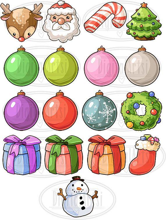50% de descuento imágenes prediseñadas de Navidad de Kawaii