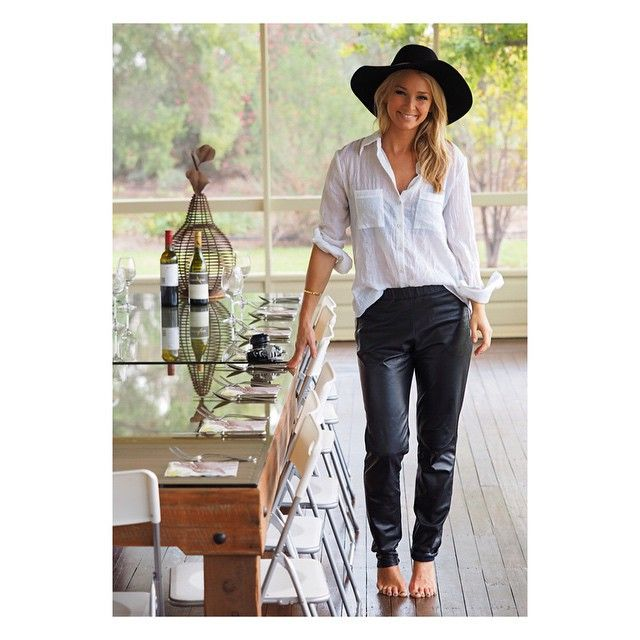 Anna Heinrich.. Bec & Bridge shirt, with May The Label pants..