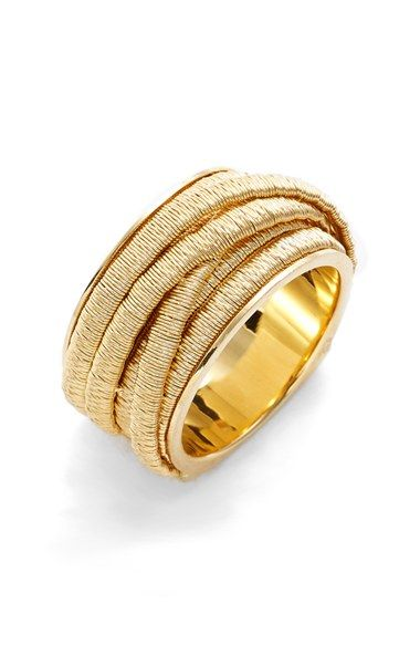 """Cairo"" Multi Strand Ring in Yellow Gold by Marco Bicego"
