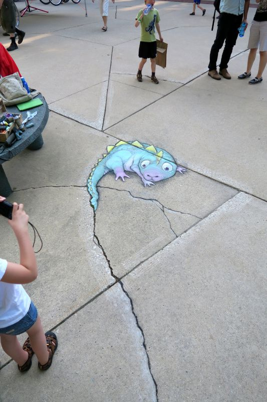 The dubious tale dragger  Photos of temporary street art installations from the Ann Arbor Summer Festival, June-July 2015 in Ann Arbor, Michigan.