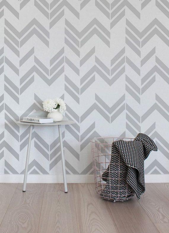 Self adhesive vinyl wallpaper wall decal Herringbone by Betapet