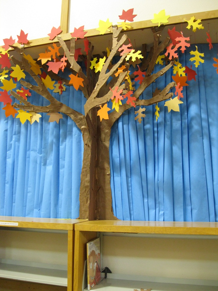 Library Display Ideas for tree in fall or spring