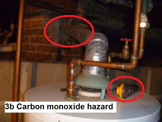 A Backventing Water Heater Meaning That Carbon Monoxide